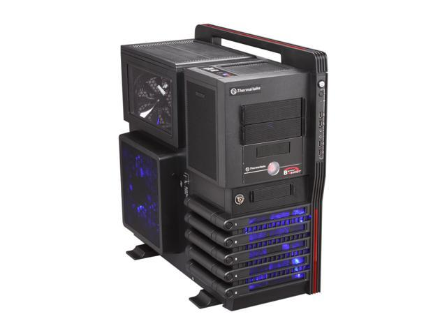Thermaltake Level 10 GT LCS (VN10031W2N) Black SECC / Plastic ATX Full Tower Computer Case with Liquid Water Cooling System and Three Fans-1x 200mm front fan, 1x 200mm side fan, 1x 140mm rear fan