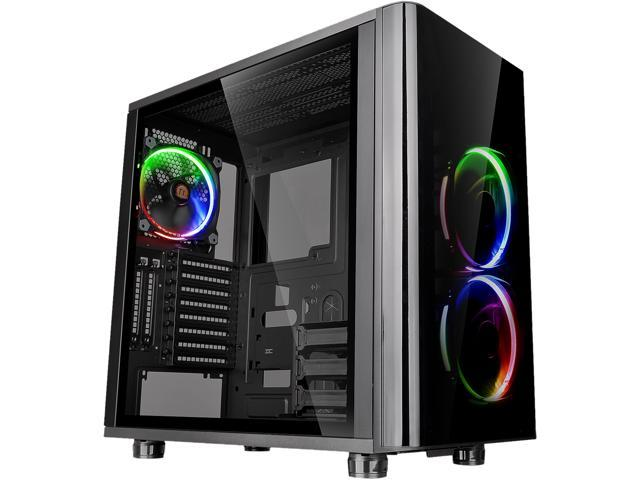 Thermaltake View 31 RGB Dual Tempered Glass ATX Tt LCS Certified Black Gaming Mid Tower Computer Case CA-1H8-00M1WN-01