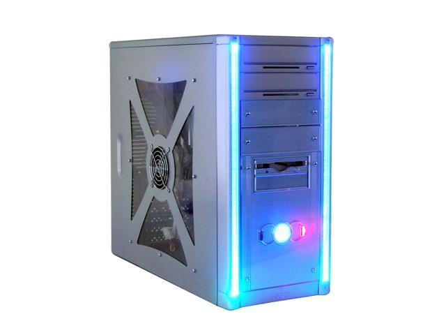 DYNAPOWER USA Z 8815 Silver/Blue Computer Case