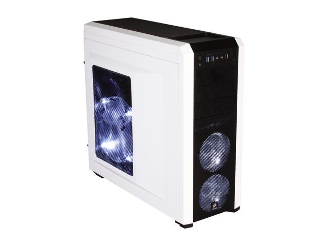 Corsair Carbide Series 500R Arctic White Steel / Plastic ATX Mid Tower Gaming Case