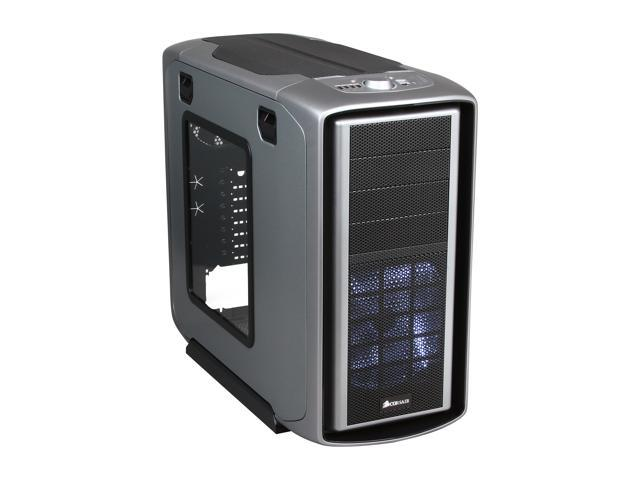 "Corsair Graphite Series 600T ""Steel Silver"" Steel / Plastic ATX Mid Tower Gaming Case"
