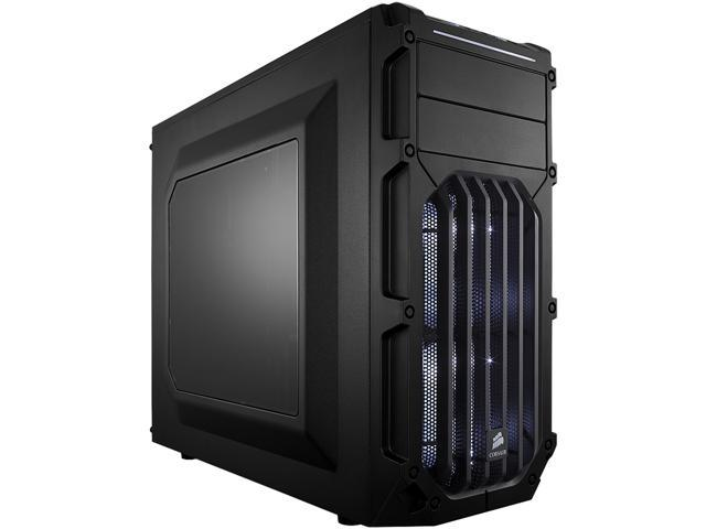 Corsair Carbide Series SPEC-03 Black Steel ATX Mid Tower Gaming Case with White LED Fans ATX Power Supply (Not Included)