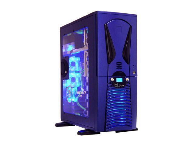 APEVIA X-Superalien ATXA6SW-BL/500 Blue Aluminum Server Computer Case 500W Power Supply