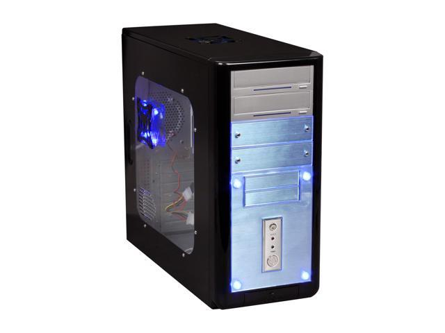 APEVIA X-Gear ATXB5KLW-BK Black Steel ATX Mid Tower Computer Case 420W Power Supply