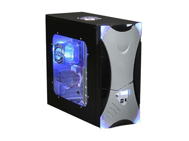 APEVIA X-Plorer ATXB8KLW-AL Black/Silver Steel ATX Mid Tower Computer Case