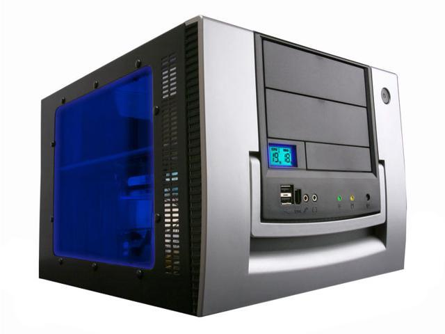 APEVIA X-QPACK-AL/420 Black/Silver Aluminum MicroATX Desktop Computer Case 420W Power Supply