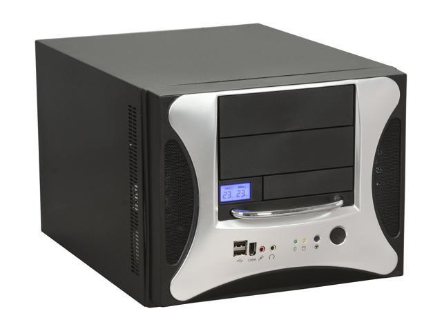 APEVIA X-QPACK2-NW-AL/500 Black/ Silver Computer Case