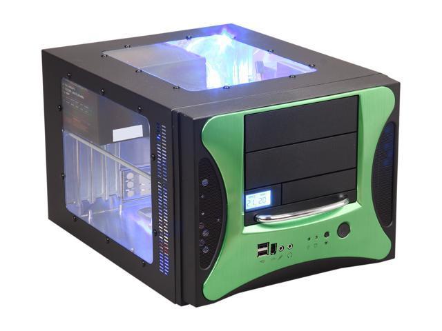 APEVIA X-QPACK2-GN/500 Black/ Green Computer Case