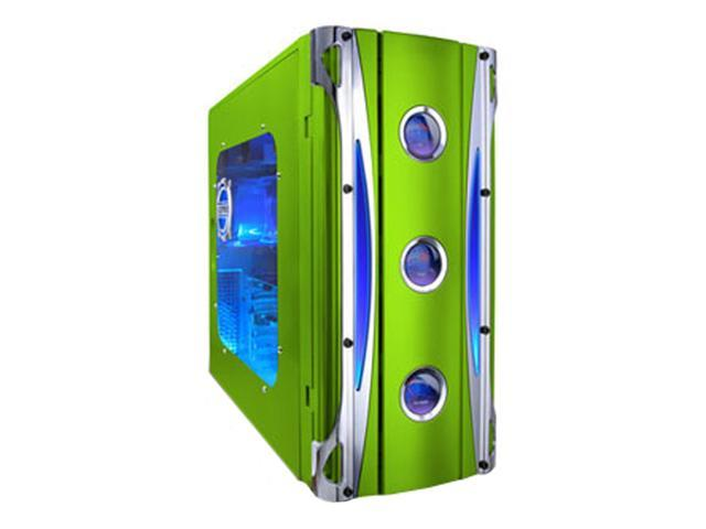 APEVIA X-CRUISER-GN Green Steel ATX Mid Tower Computer Case