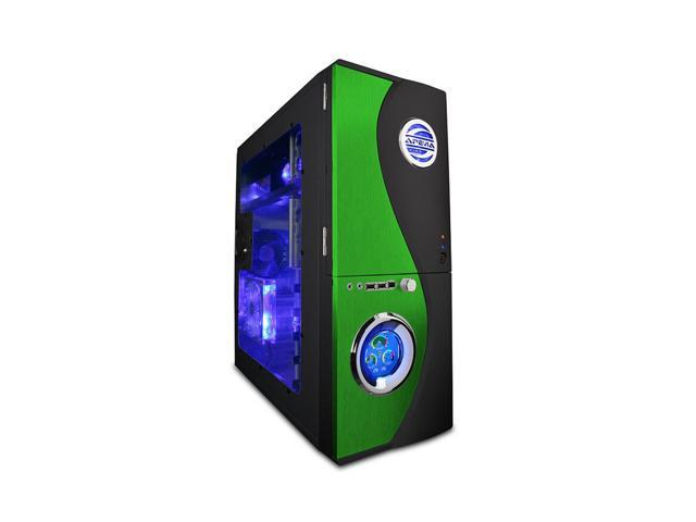 APEVIA  X-TELSTAR-GN  Green/ Black  Aluminum  ATX Full Tower  Computer CaseNo  Power Supply