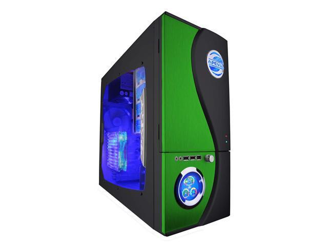 APEVIA X-TELSTAR-JR G-Type X-TSJGT-GN Green SECC Steel ATX Mid Tower Computer Case