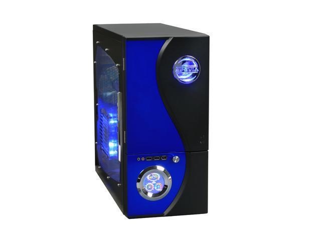 APEVIA X-TELSTAR-JR G-Type X-TSJGT-BL Blue SECC Steel ATX Mid Tower Computer Case