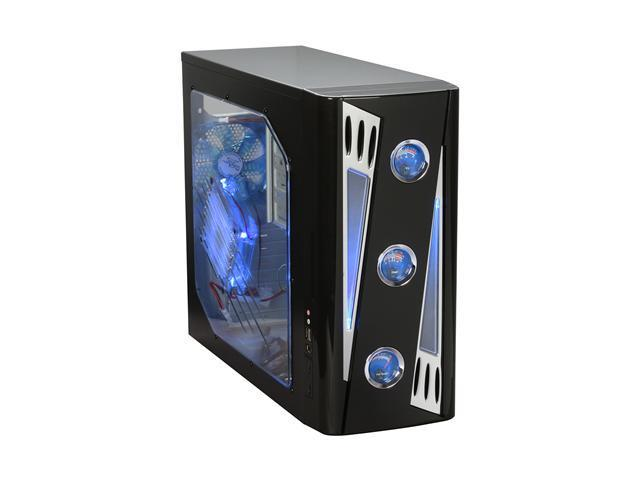 APEVIA X-CRUISER2-BK Black SECC Steel ATX Mid Tower Computer Case