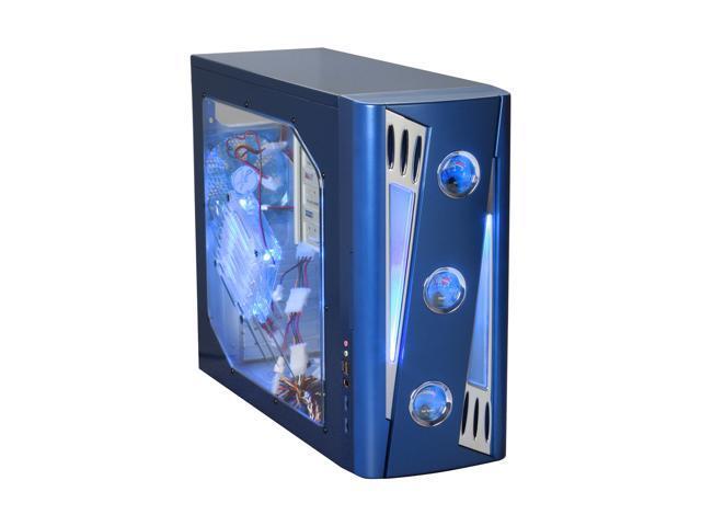 APEVIA X-CRUISER2-BL Blue SECC Steel ATX Mid Tower Computer Case