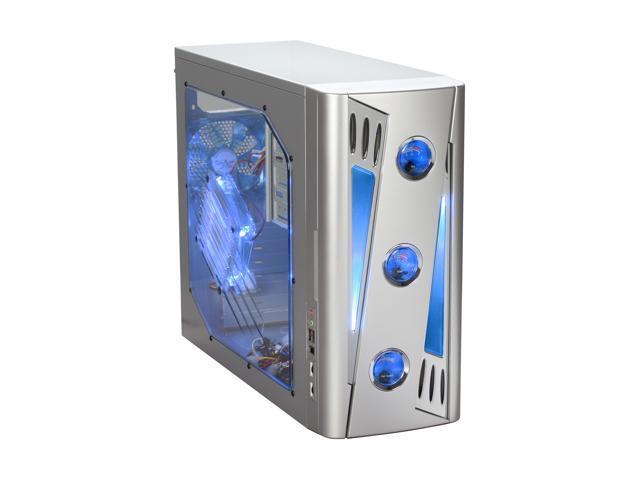 APEVIA X-CRUISER2-AL Silver SECC Steel ATX Mid Tower Computer Case