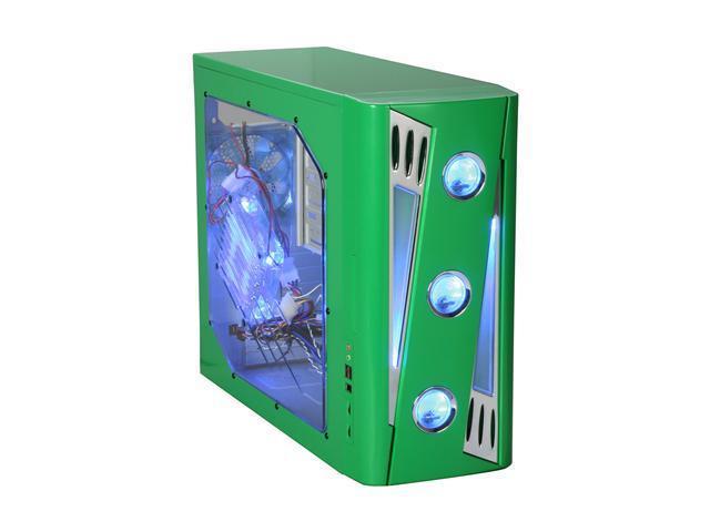 APEVIA X-CRUISER2-GN Green SECC Steel ATX Mid Tower Computer Case