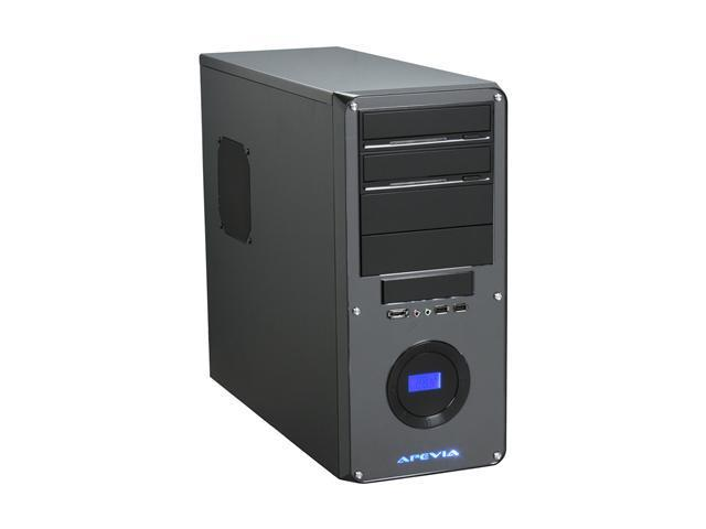 APEVIA X-DREAMER3 X-DMR3-NW-BK/450 Black metal ATX Mid Tower Computer Case 450W Power Supply