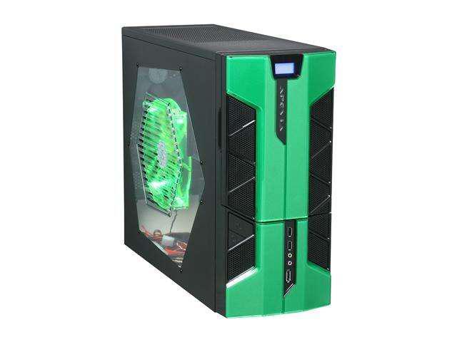 APEVIA X-PLORER2 Series X-PLORER2-GN Black/Green Steel ATX Mid Tower Computer Case