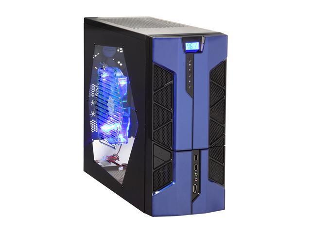 APEVIA X-PLORER2 Series X-PLORER2-BL Black/Blue Steel ATX Mid Tower Computer Case