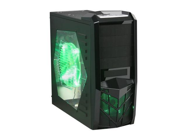 APEVIA X-TROOPER Series X-TRP-GN Black/Green Steel ATX Mid Tower Computer Case