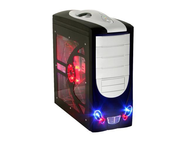 POWMAX CP0327PL-4 Window Black/ Silver Computer Case