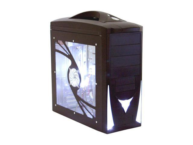 POWMAX CP8869-3 Black Steel ATX Mid Tower Computer Case 450W Power Supply