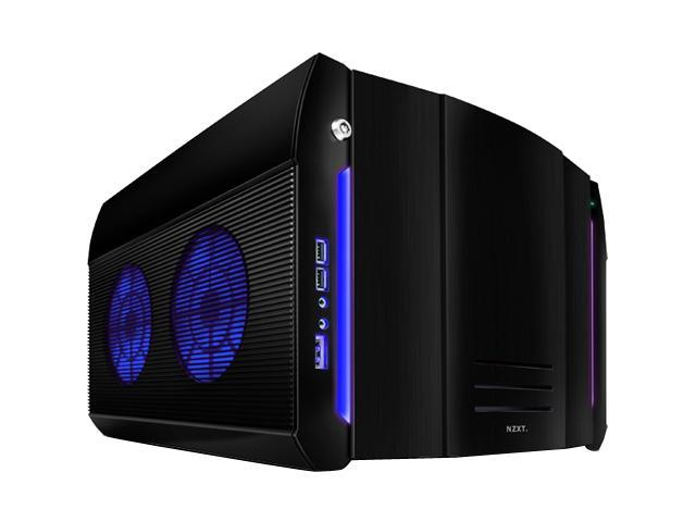 NZXT ROGUE Crafted Series BLACK ROGUE w. BLUE LED Black Aluminum MicroATX Desktop Computer Case