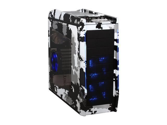 NZXT Digital Artic-Camo (Water Transfer Printing) TEMPEST EVO Mid Tower w. 2 x 120mm Front LED Fans, 2 x 140mm Top Fans, 1 x 120mm Side LED Fan & 1 x 120mm Rear Fan