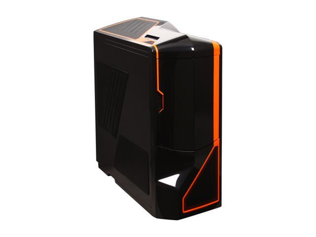 NZXT Phantom PHAN-002OR Newegg Exclusive Black Finish w/Orange Trim Steel / Plastic Enthusiast ATX Full Tower Computer Case