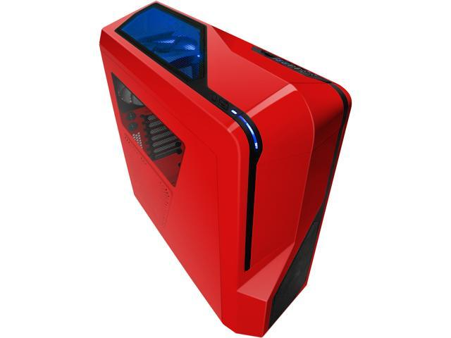 NZXT Phantom 410 Series CA-PH410-R1 Red Steel / Plastic ATX Mid Tower Computer Case