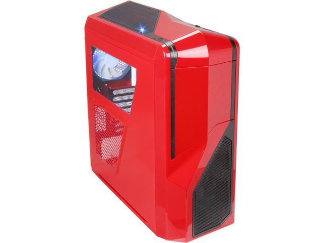 NZXT Phantom 410 Series RB-CA-PH410-R1 Red Steel / Plastic ATX Mid Tower Computer Case