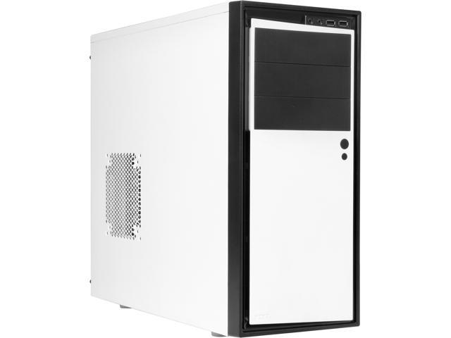 NZXT Source 210 RB-S210-002 White w/Black Front Trim SECC Steel, ABS Plastic ATX Mid Tower Computer Case
