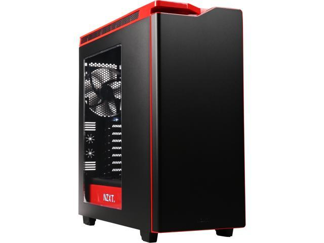 109.90 - NEW NZXT H440 STEEL Mid Tower Case. Next Generation 5.25-less Design. Include 4 x 2nd Gen FNv2 Fans High-End WC Support USB3.0 PWM Fan Hub Matte BLK  Red
