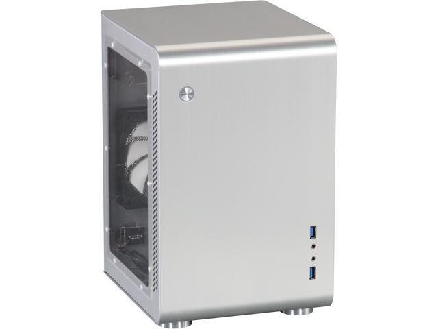 Rosewill Legacy U2-S - Silver Aluminum Alloy Mini ITX Tower Computer Case - Side Window Panel