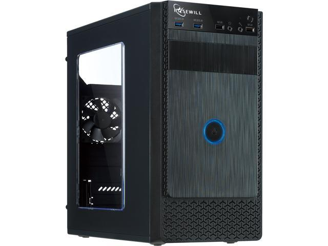 Rosewill FBM-X1 Black Steel / Plastic ATX Mini Tower Case with Side Panel Window