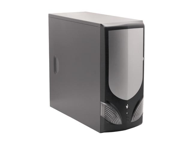 LOGISYS Computer CS51BK Black / Silver Steel ATX Mid Tower Computer Case 450W Power Supply