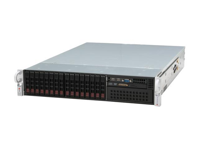 SUPERMICRO CSE-213A-R900LPB Black 2U Rackmount Server Case