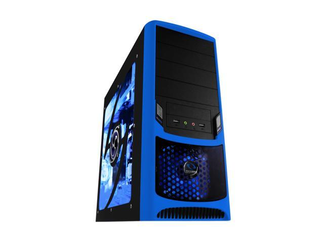 RAIDMAX Tornado ATX-238WU Black/Blue Computer Case