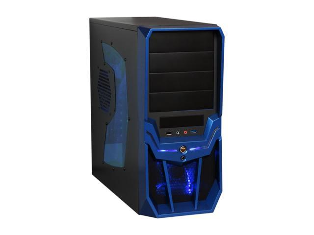 RAIDMAX Super Hurricane ATX-248NWU Black/Blue Steel / Plastic ATX Mid Tower Computer Case
