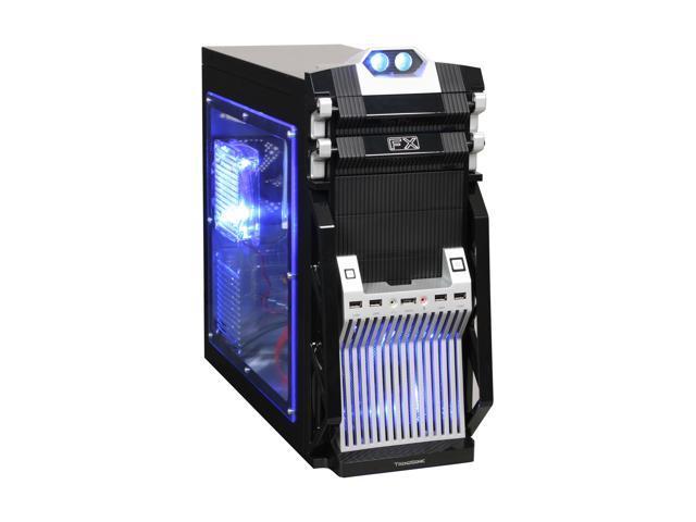 Broadway Com Corp FX-Series FX-SILVER Black / Silver SECC Steel Computer Case