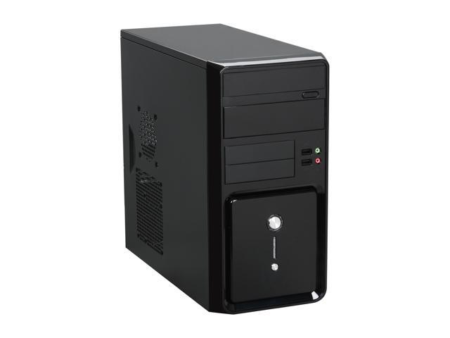 Broadway Com Corp 1244MA-BLACK Glossy black Steel ATX Mini Tower Computer Case 500W Power Supply