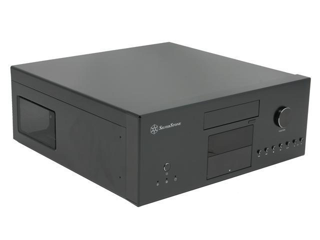SILVERSTONE Black Aluminum front panel, 0.8 mm SECC body Lascala Series LC16B-M ATX Media Center / HTPC Case