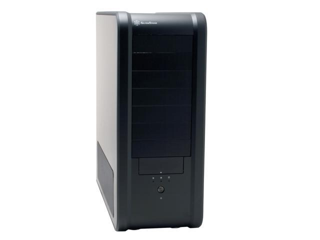 SILVERSTONE SST-TJ07-B Black 4.0mm ~ 8.0mm uni-body aluminum outer frame, 2.0mm aluminum body ATX Full Tower Computer Case