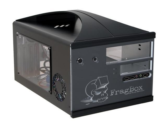 Falcon Northwest FragBox 41D02FCB11W Black Aluminum MicroATX Desktop Computer Case