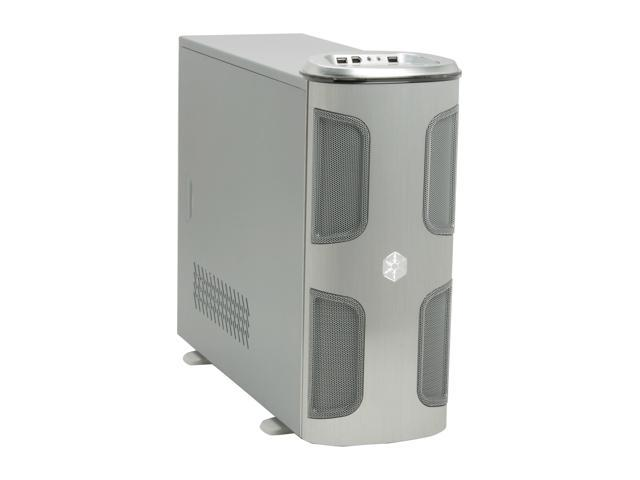 SilverStone KUBLAI Series KL03S Silver 2.5mm aluminum front door, 0.8mm SECC body ATX Mid Tower Computer Case