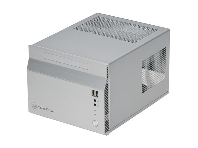 SilverStone Sugo Series SG06S Silver Aluminum/SECC Mini-ITX Desktop Computer Case SFX 300W with 80 PLUS certification Power Supply