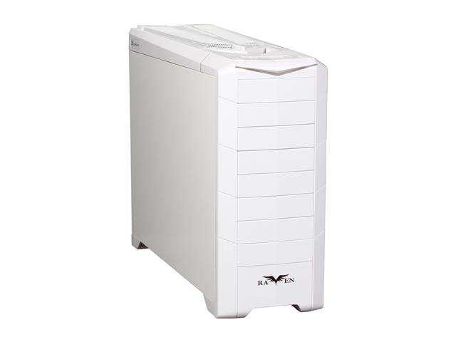 SILVERSTONE RAVEN RV02W-EW  All White reinforced plastic outer shell, 0.8mm Steel body ATX Full Tower Computer Case