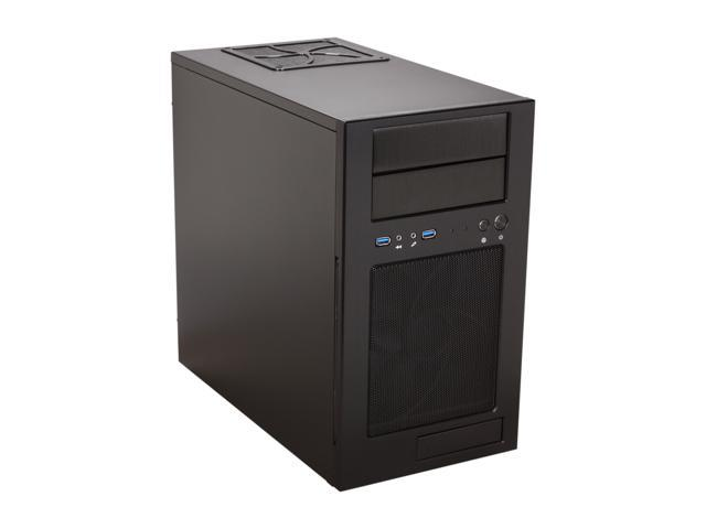 SilverStone Temjin Series TJ08B-E Black Aluminum front panel, steel body MicroATX Mini Tower Computer Case