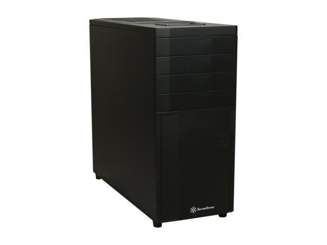 SilverStone Kublai Series SST-KL04B Black Plastic front panel, steel body ATX Mid Tower Computer Case