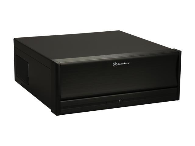 SILVERSTONE Black Aluminum / Steel Lascala Series SST-LC13B-E-USB3.0 ATX Media Center / HTPC Case